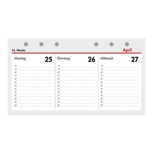 2020 Kalender Ersatzeinlage Kompakt A6 quer 1 Woche/2 Seiten