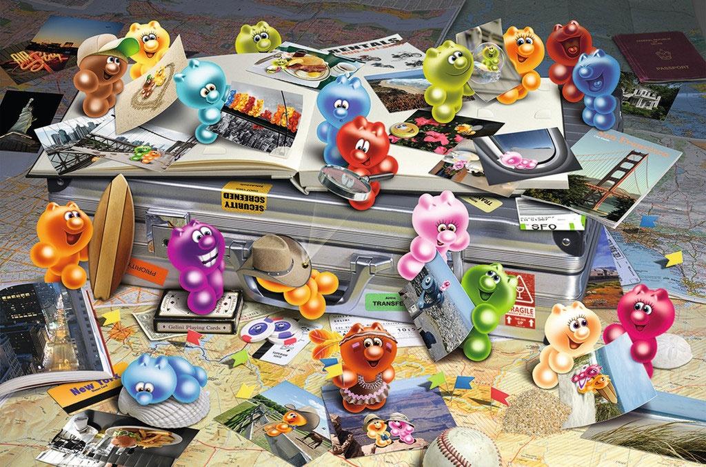 Ravensburger Puzzle Gelini auf Reisen 3000 Teile