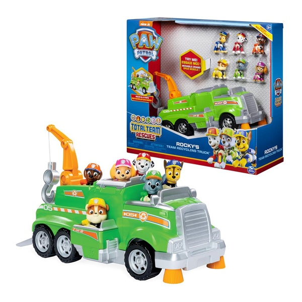 Paw Patrol Total Team Rescues Rockys Recycling Truck