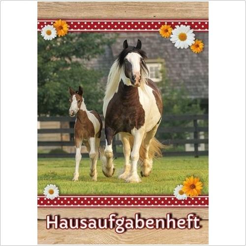 Hausaufgabenheft Pferdekoppel