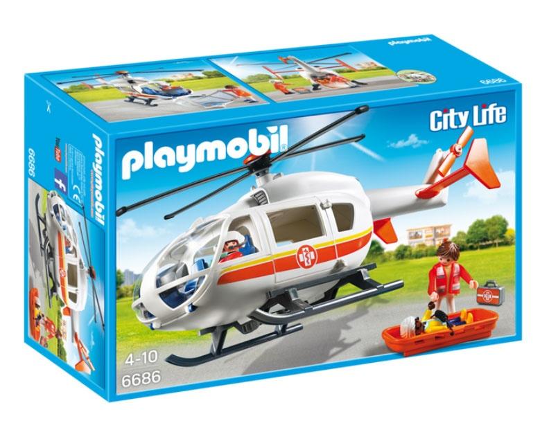 Playmobil 6686 City LIfe Rettungshelikopter