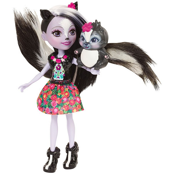 EnchanTimals Puppe Stinktiermädchen Sage Skunk