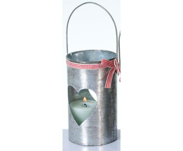 Teelichthalter aus Metall Herz