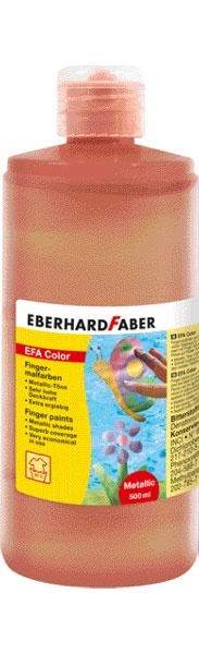 Fingerfarbe pearl rot 500 ml