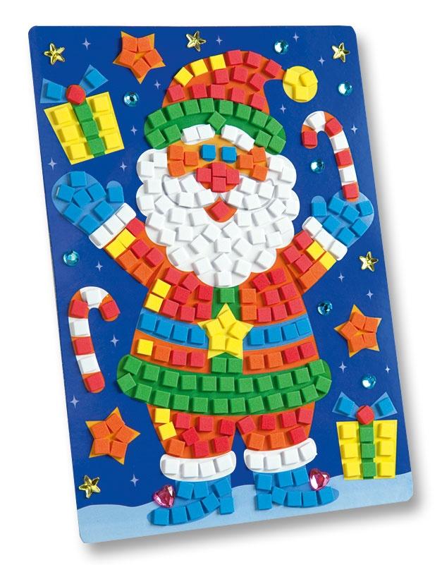 Folia Moosgummi Mosaik Weihnachtsmann