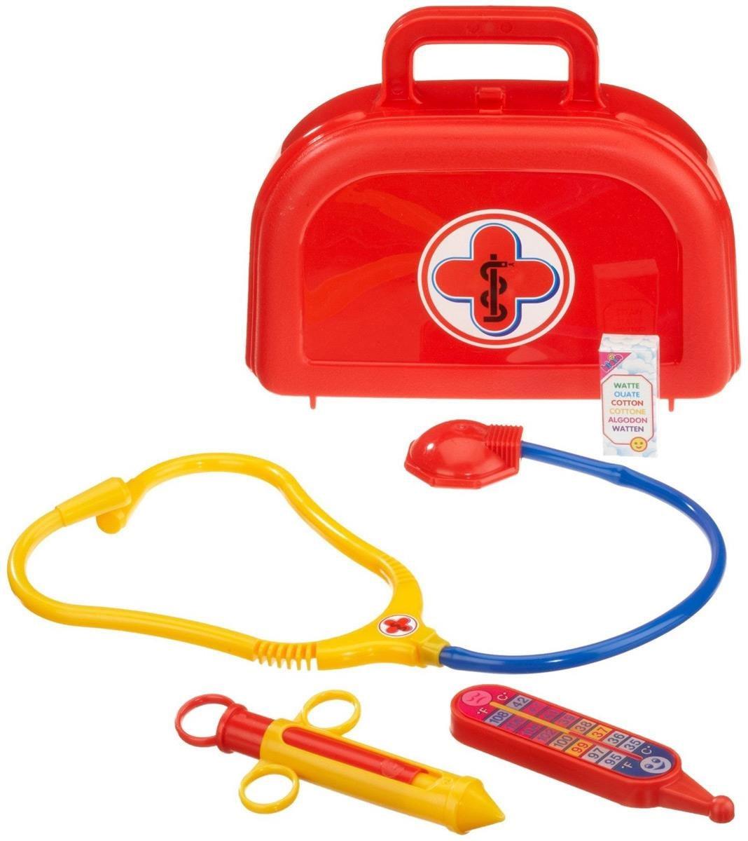 Doktorkoffer für Kinder mit Stethoskop, Spritze und Thermome