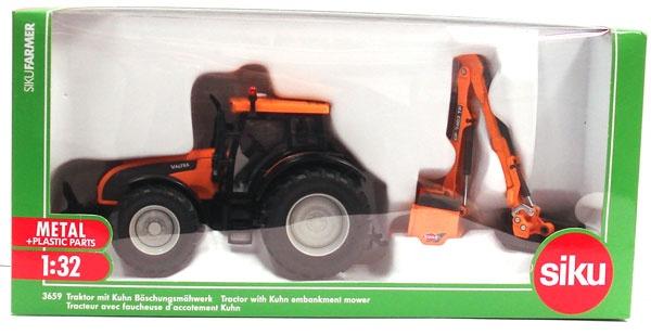 Siku 3659 Traktor mit Kuhn Böschungsmähwerk 1:32