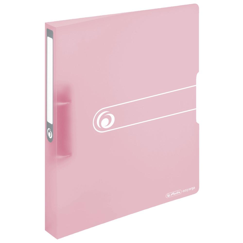 Ringbuch A4 rosa transparent