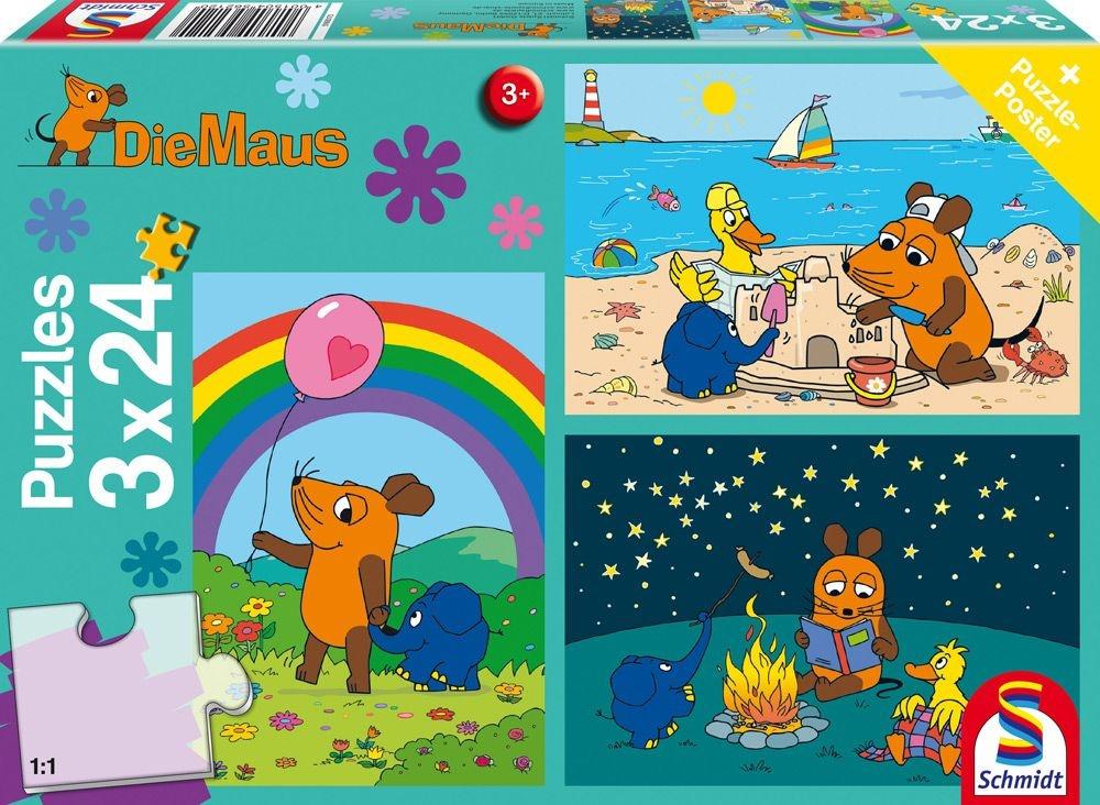 Schmidt Spiele Puzzle Die Maus Gute Freunde 3 x 24 Teile