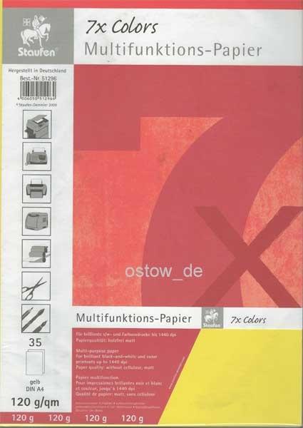 Multifunktionspapier 120g Kopierpapier gelb