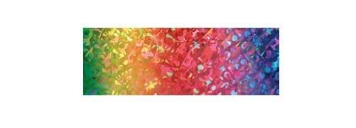 Holographische Folie 40 cm x 5 m Regenbogen selbstklebend