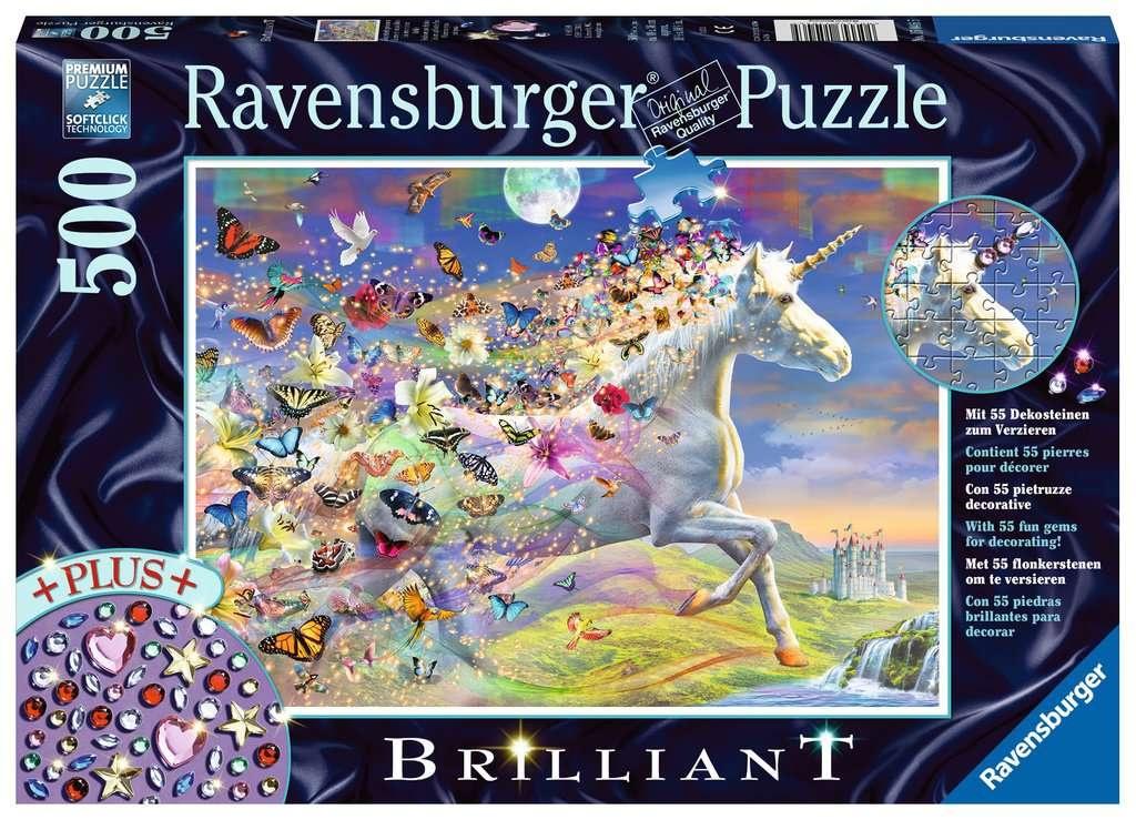 Ravensburger Puzzle Brilliant Schmetterlingseinhorn 500