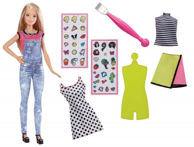 Mattel Barbie D.I.Y. Emoji Style Puppe rosa