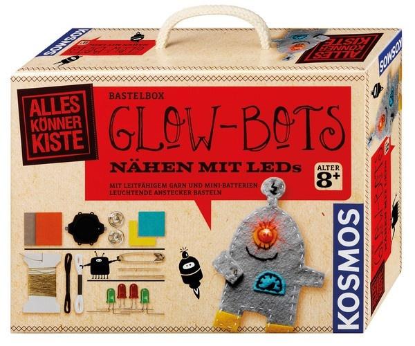 Glow-Bots Nähen mit LEDs Bastel-Set von Kosmos