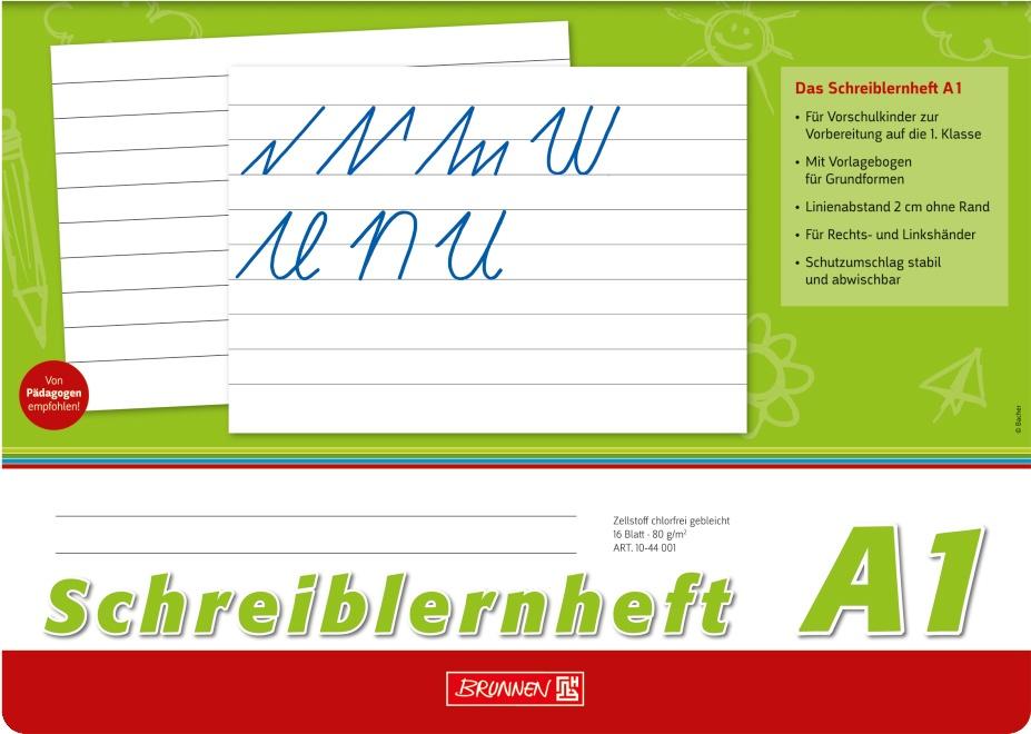 Brunnen Schreiblernheft A4 quer Lineatur A1