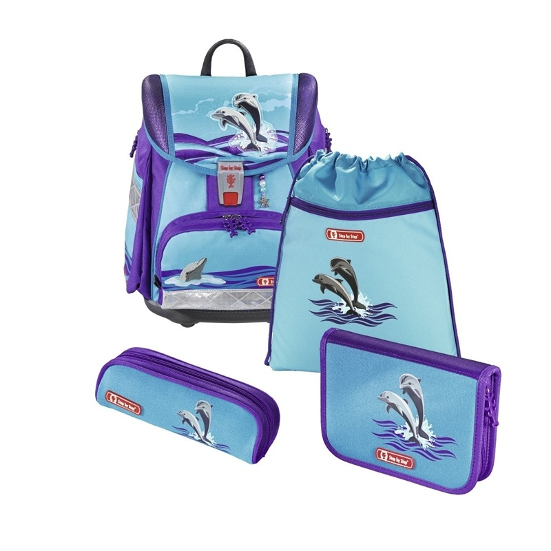 Step by Step Happy Dolphins Schulranzen Touch 2