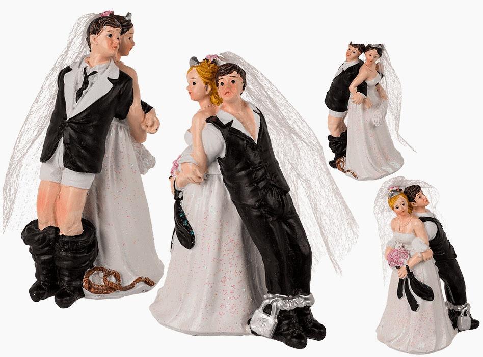 Hochzeitspaar Deko-Figur 11 cm