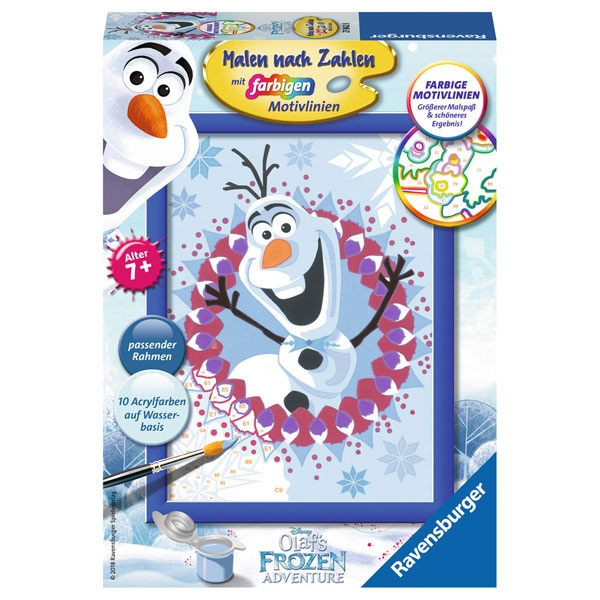 Ravensburger Malen nach zahlen Die Eiskönigin Frozen Olaf