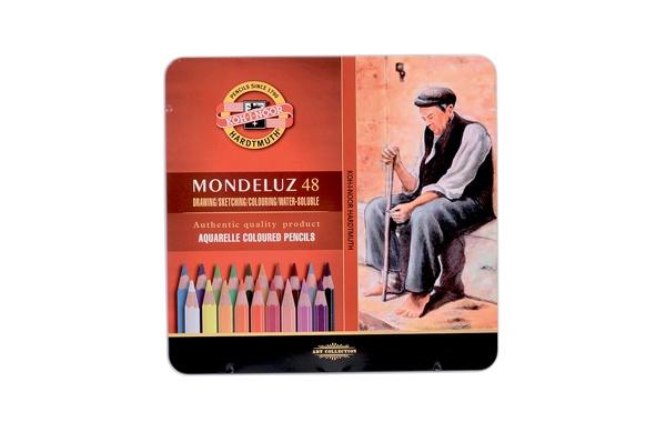 KOH-I-NOOR Mondeluz Künstler Aquarell-Farbstifte 48 Stück