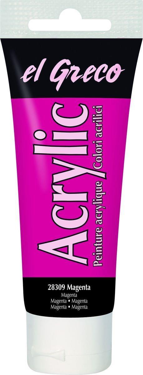 El greco Acrylic Acrylfarbe Magenta 75 ml