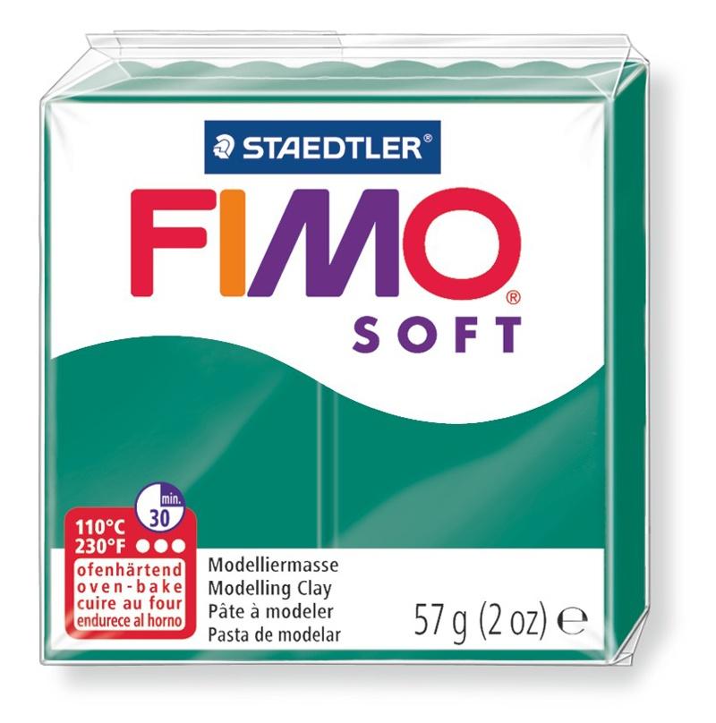 Staedtler Modelliermasse Fimo soft smaragd 57 g