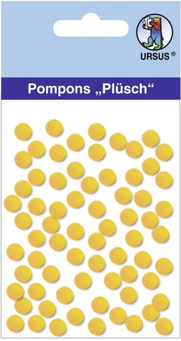 Pompons Plüsch Ø 7mm gelb