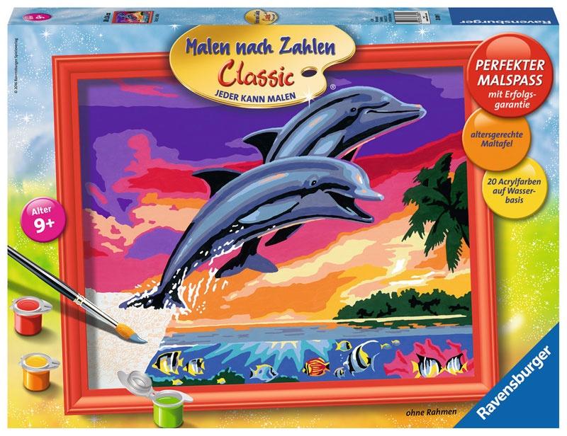 Malen nach Zahlen Welt der Delfine