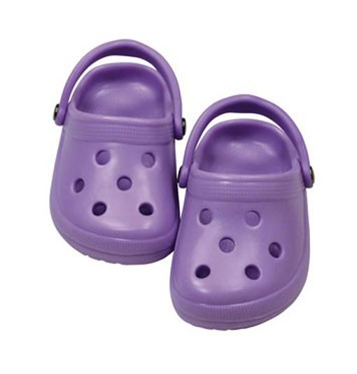 Götz Puppenkleidung Schuhe Dollocs lila