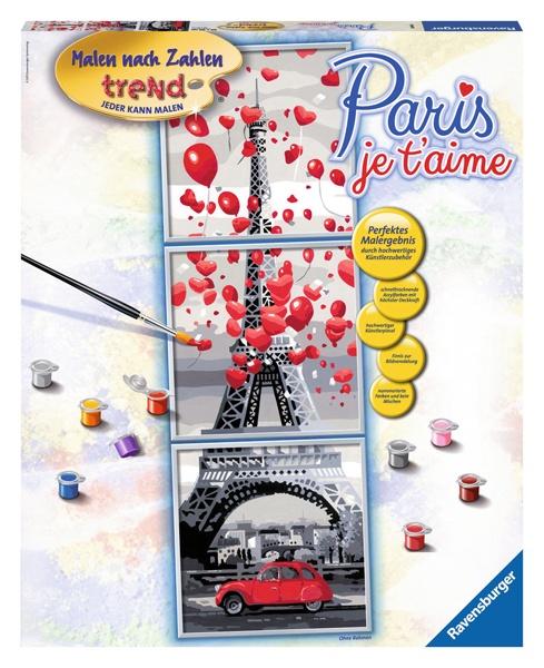 Ravensburger Malen nach Zahlen Paris, je t´aime