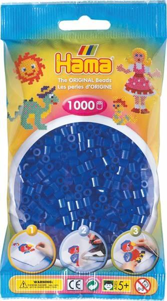 Hama Bügelperlen 1000 Stück neon-blau