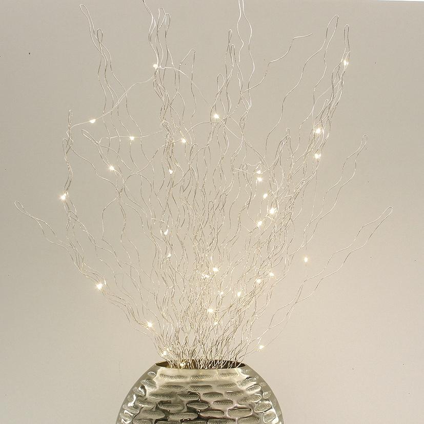 Lichtdekoration Zweige champagner-gold 35 LED beleuchtet