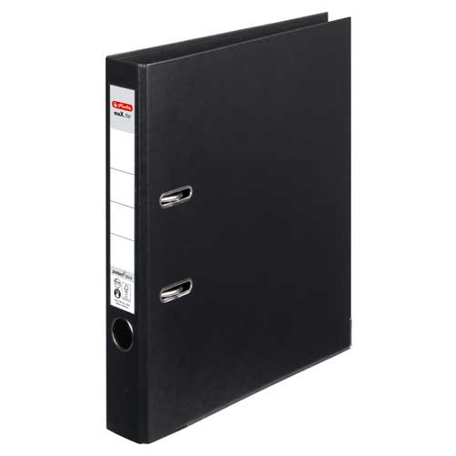 Ordner A4 max.file protect schwarz 5 cm von Herlitz