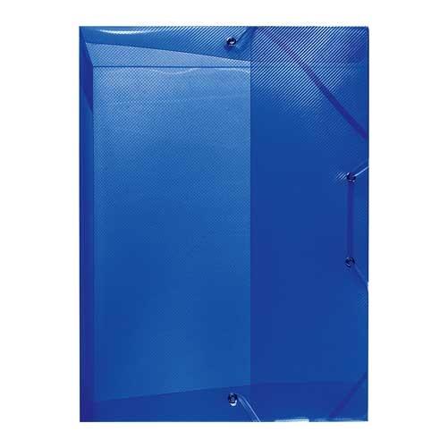 Heftbox A4 transluzent blau von Herlitz