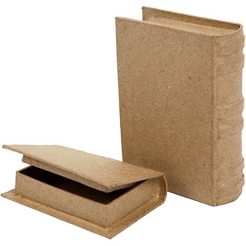 Pappmaché Schachtel in Buchform zum Selbstgestalten