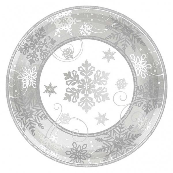 Party-Teller Sparkling Snowflake Schneeflocken 8 Stück