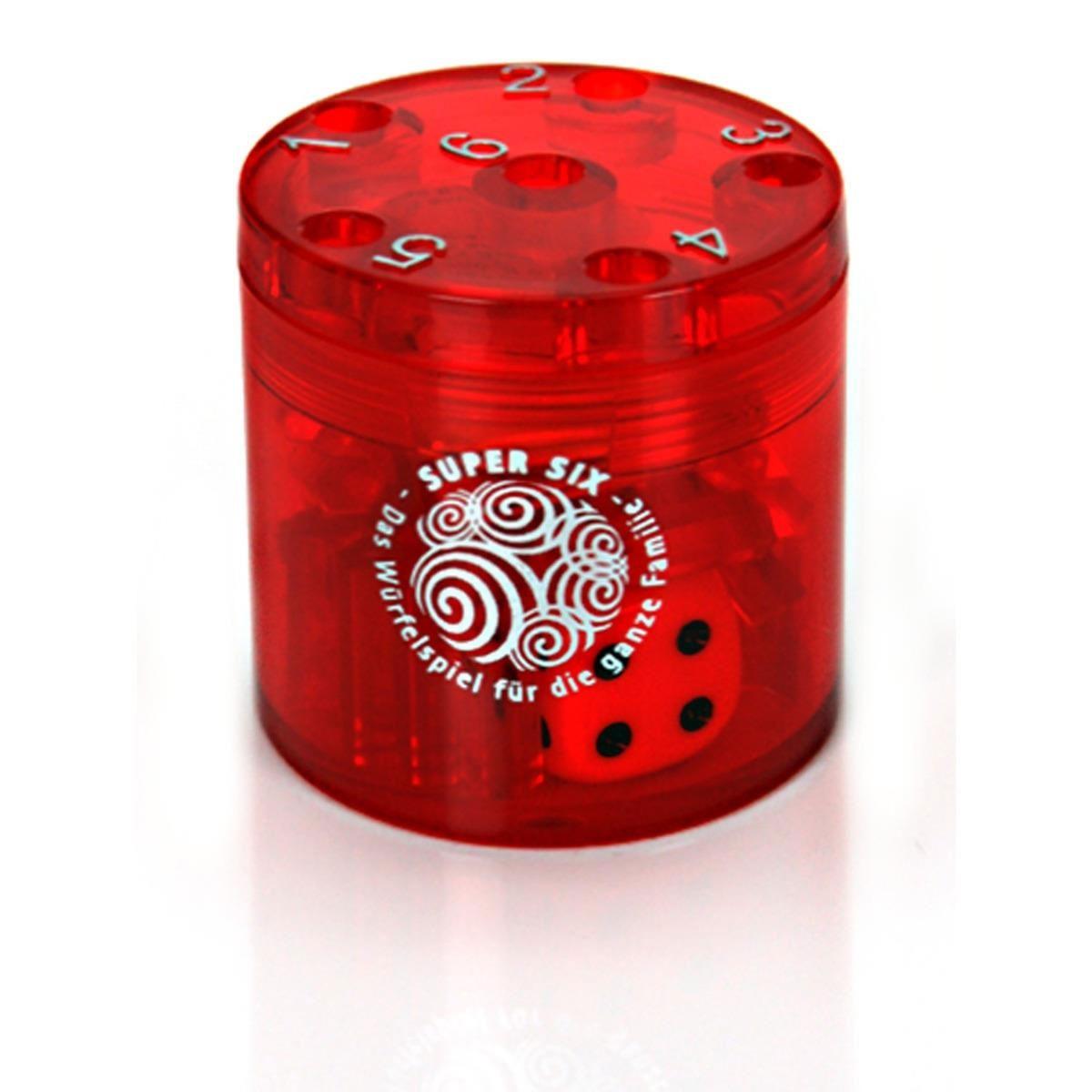 Super Six Würfelspiel rot