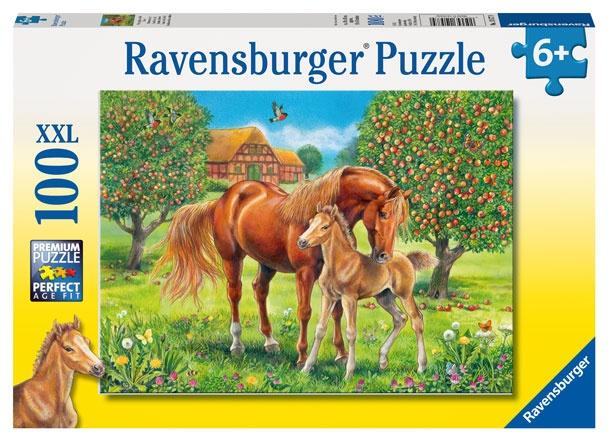 Ravensburger Puzzle Pferdeglück auf der Wiese 100 Teile