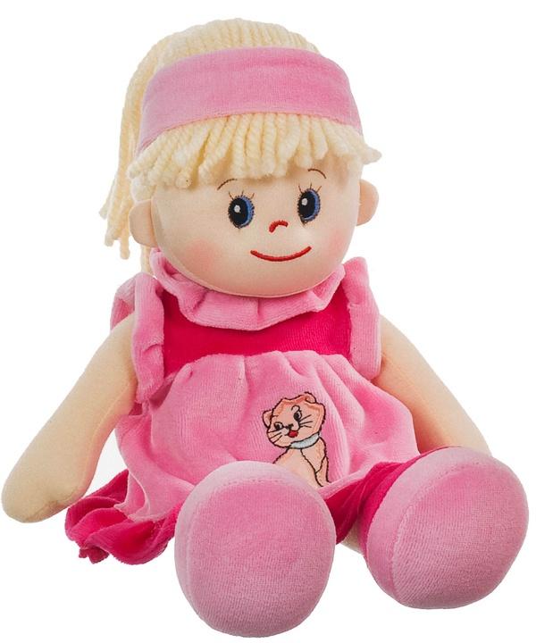 Poupetta Stoffpuppe Liesel blondes Haar 30 cm