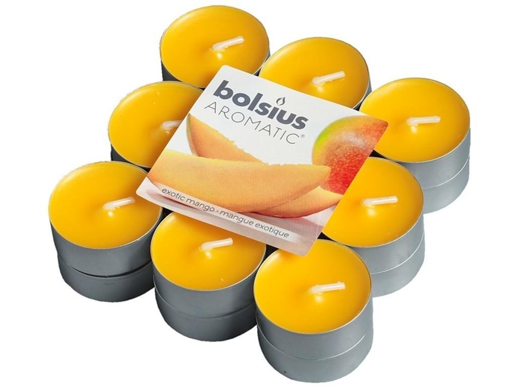 Bolsius Duft-Teelichter 18 Stück Packung exotic Mango