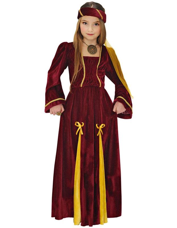 Kostüm Mittelalterliche Prinzessin Gr. 128