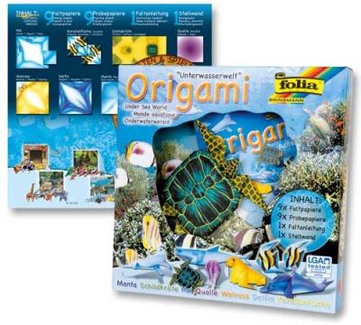 Origami Faltblätter Tierwelten Unterwasserwelt