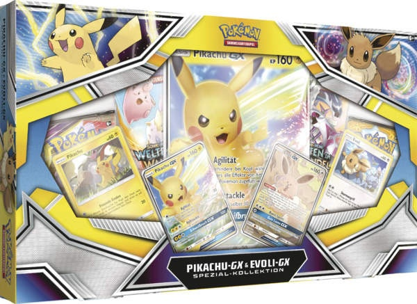 Pokemon Pikachu-GX und Eevee GX Kollektion