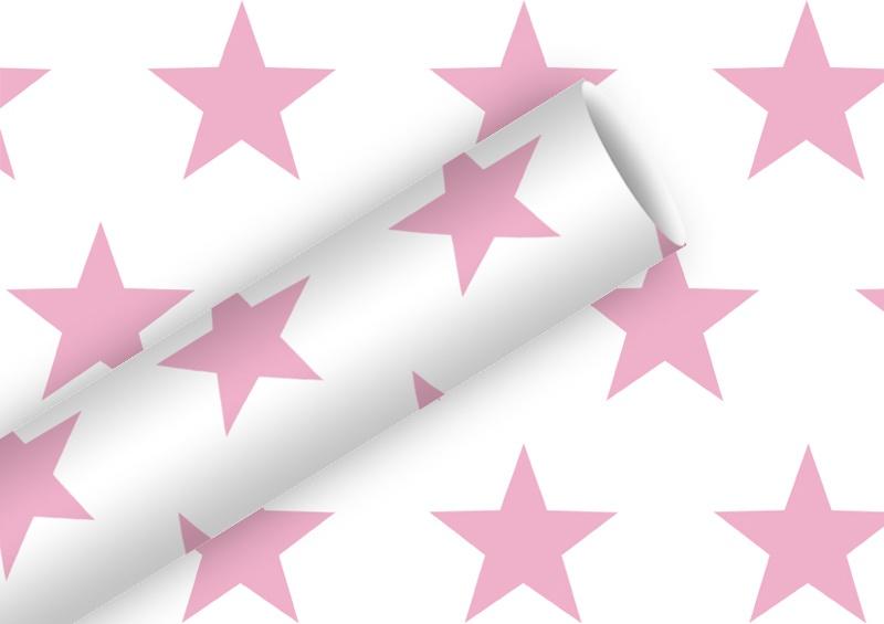 Geschenkpapier Stern rosa