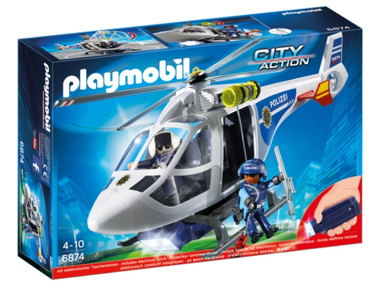 Playmobil 6874 City Action Polizei-Helikopter