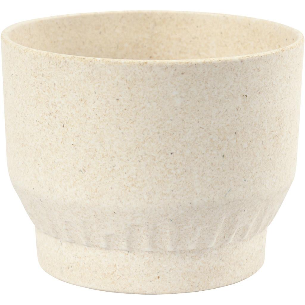 Bastelmaterial Bambusschale 12 x 9,3 cm