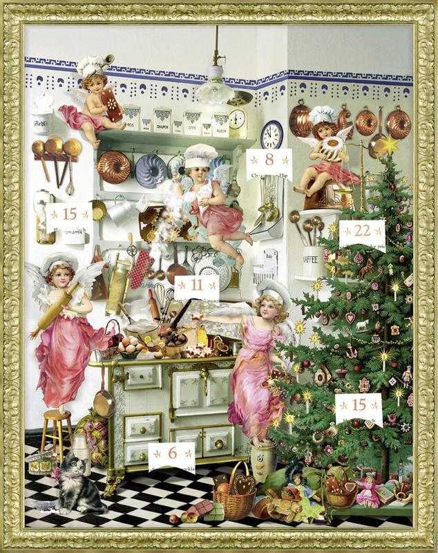 Adventskalender Nostalgische Adventsküche, Zettelkalender
