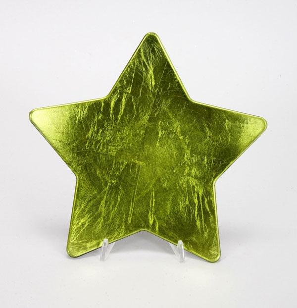 Sternteller grün 23,5 cm