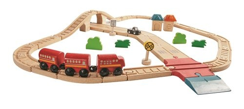 Holzeisenbahn-Set aus Holz von Plantoys