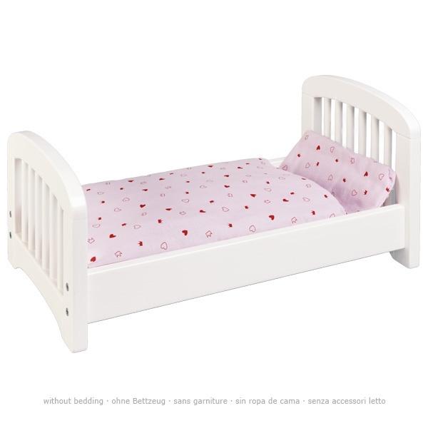 Puppenbett aus Holz weiß