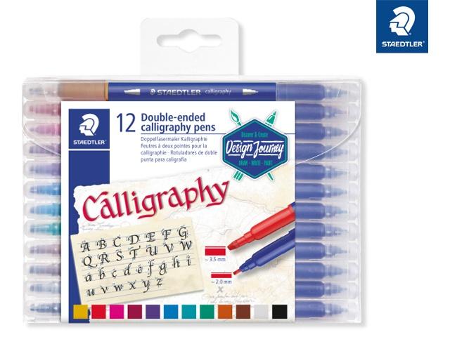 Staedtler Doppelfasermaler Kalligrafie 12 Stück Packung
